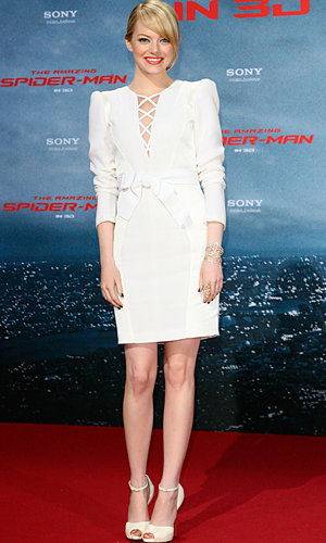 Emma Stone goes from gothic chic to wowing in white for The Amazing Spider-Man premiere!