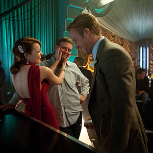 Cute pics: Emma Stone and Ryan Gosling behind the scenes of Gangster Squad
