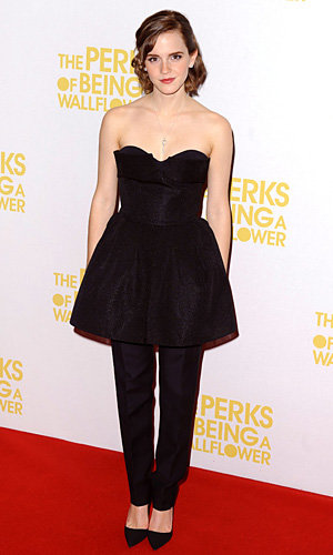 Emma Watson styles up Dior skirt and trouser combo