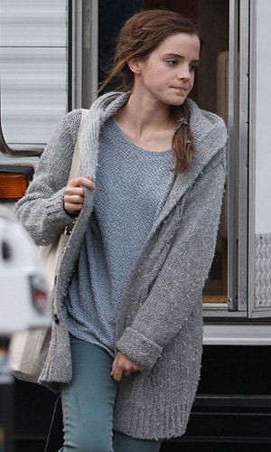 SEE PICS: Emma Watson on set of Noah in New York
