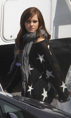 Emma Watson on set of The Bling Ring!