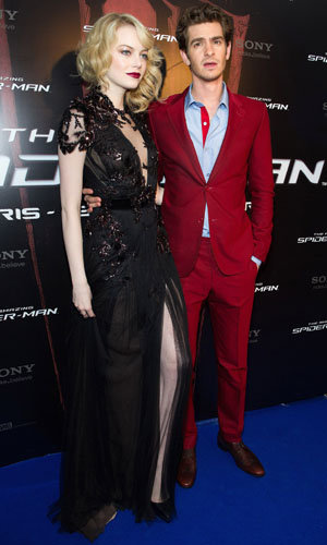 Emma Stone goes gothic in Gucci at The Amazing Spider-Man premiere!