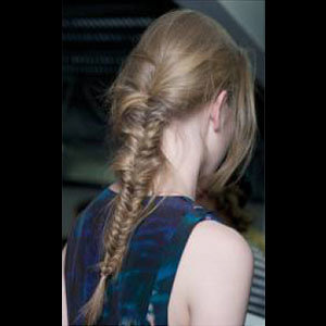 Get the Erdem tousled tail hairstyle
