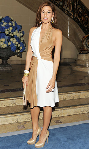 Eva Mendes, Emma Roberts and Freida Pinto go front row at Salvatore Ferragamo show