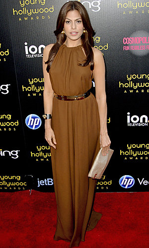 Eva Mendes hosts the Young Hollywood Awards in Lanvin