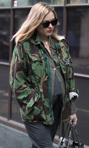 Pregnant Fearne Cotton works military vibe