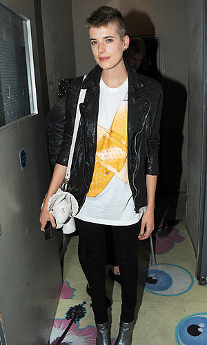 Agyness Deyn styles it up at the Giles and MAC aftershow party!