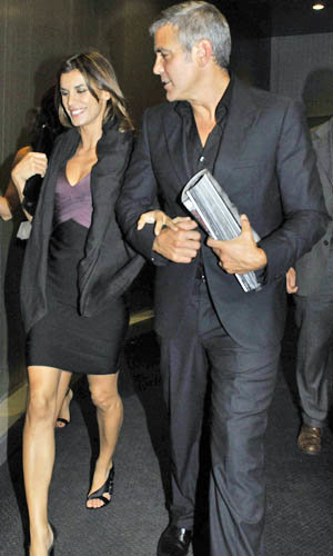 SEE PICS George Clooney and Elisabetta Canalis out and about in Milan