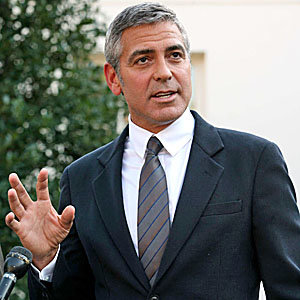 George Clooney pays a visit to the White House