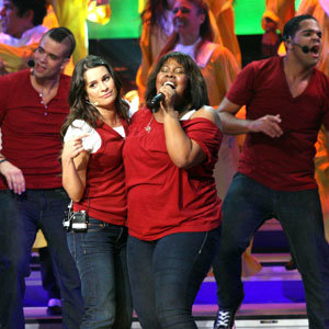Glee stars go down a storm in live concert