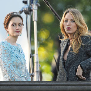 GOSSIP GIRL PICS: Blake Lively and Leighton Meester on set