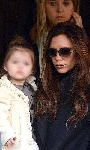 Victoria Beckham and Harper cheer on David in Paris