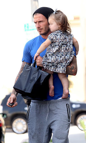 Harper and David Beckham's lunch date!