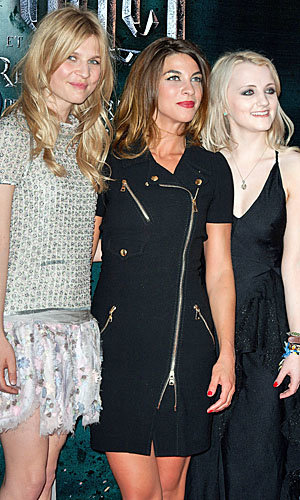 Harry Potter and the Deathly Hallows Part 2 stars Clemence Poesy and Evanna Lynch hit Paris for premiere