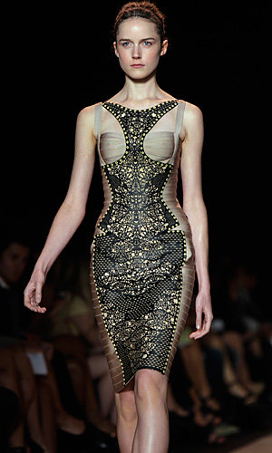 NYFW Day 6: Vera Wang goes girly and Herve Leger updates the bandage dress