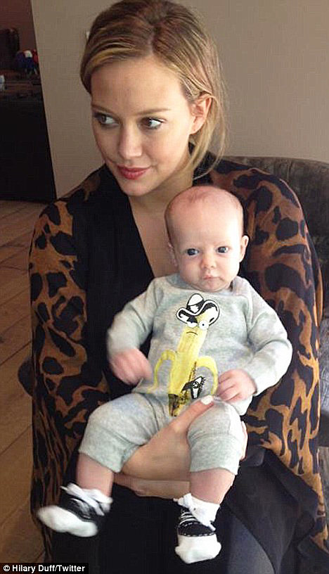 Hilary Duff shows off her adorable baby Luca