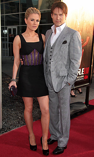 True Blood couple Anna Paquin and Stephen Moyer sizzle at season 4 premiere
