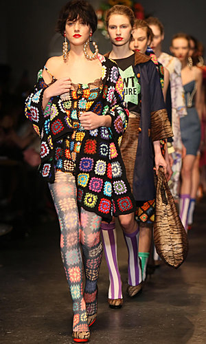 FASHION UPDATE: Colourful fun on the LFW catwalks