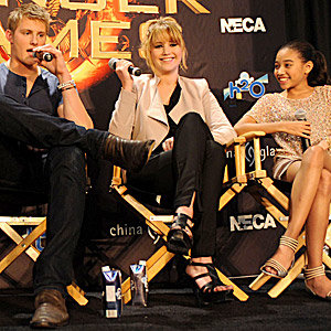 Jennifer Lawrence and The Hunger Games cast in Florida