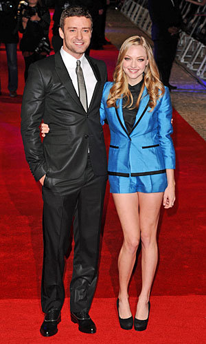 Justin Timberlake and Amanda Seyfried dazzle at In Time premiere