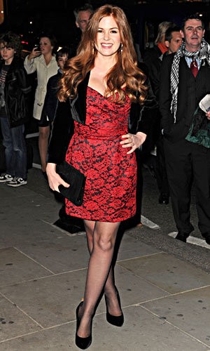 Isla Fisher wows at London Premiere
