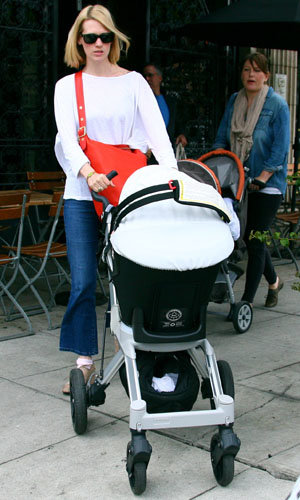 SEE PICS: January Jones and Xander take a walk!