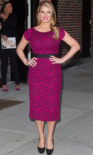 SHOP HER STYLE: Buy Jessica Simpson's gorgeous Late Show dress