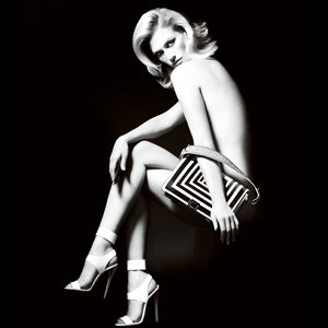 January Jones smoulders in new Versace campaign