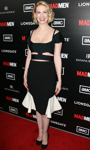 January Jones wows in a Roland Mouret cut-out dress at Mad Men premiere!
