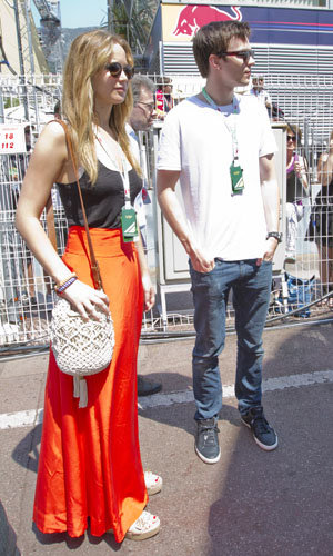 CELEBRITY COUPLE: Jennifer Lawrence and Nicholas Hoult at the Grand Prix!