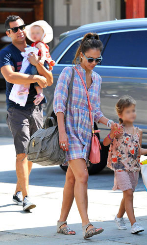 Jessica Alba and Cash Warren enjoy family day out