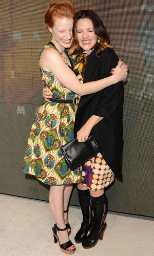 Freida Pinto, Drew Barrymore, Jessica Chastain and more at the Marni for H&M launch!