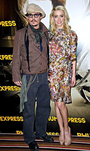 SEE PIC: Amber Heard and Johnny Depp in Paris