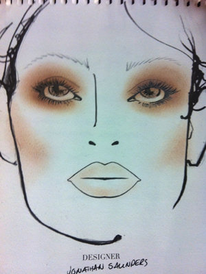 BACKSTAGE BEAUTY: Trends at Jonathan Saunders