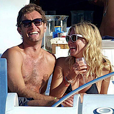 SEE PICS: Jude and Sienna go yachting in Ibiza
