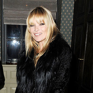 NEW HAIR: Kate Moss shows off new fringe at Bryan Ferry's album launch