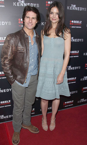 Katie Holmes and Tom Cruise hit the red carpet at premiere of The Kennedys