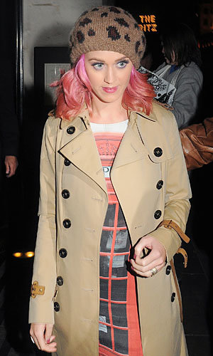 Katy Perry gears up for the X Factor at The Wolseley