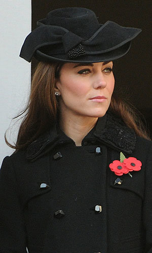 Kate Middleton joins the royal family on Remembrance Day