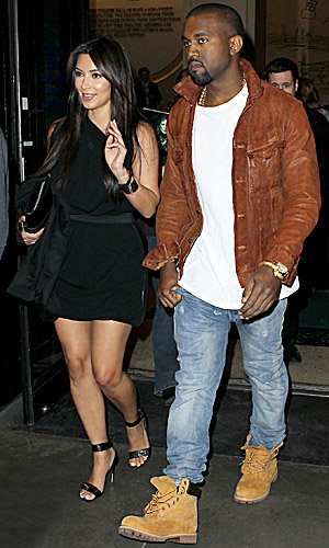 SEE PICS: Kanye West and Kim Kardashian's date night!