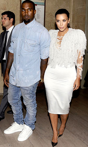 Kim Kardashian and Kanye West hit New York Fashion Week