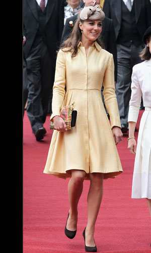 Kate Middleton wears Emilia Wickstead at Knight of the Thistle service!