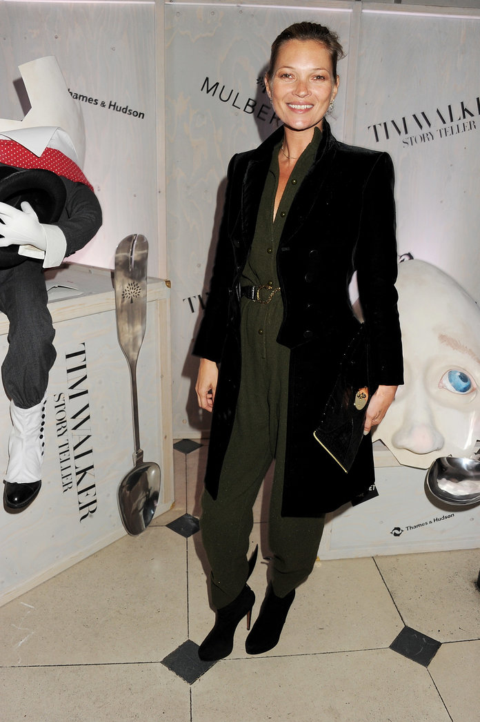 Kate Moss hits the Tim Walker: Story Teller exhibition launch with Mulberry