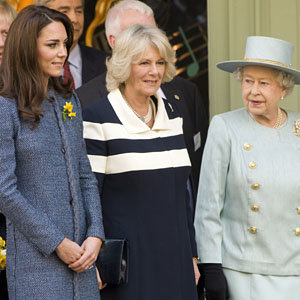 Kate Middleton joins the Queen and the Duchess of Cornwall on a royal trip to Fortnum & Mason