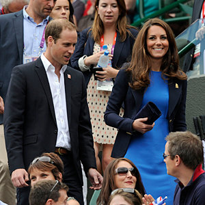 Kate Middleton and Prince William do the Mexican wave!