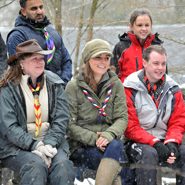 Kate Middleton wraps up warm for day of Scout training