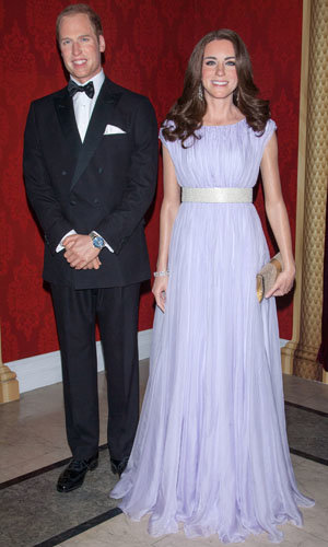 SEE PICS: Kate Middleton and Prince William's waxworks unveiled!