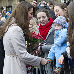 Kate Middleton and Prince William accept babygro gift from supporter in Cambridge