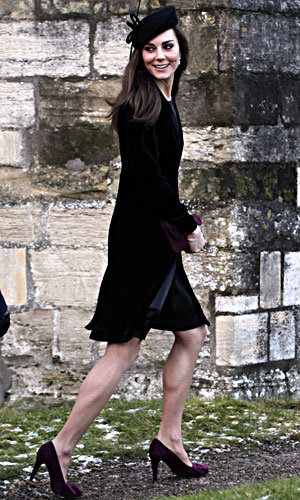 Kate Middleton wears black to friends' wedding
