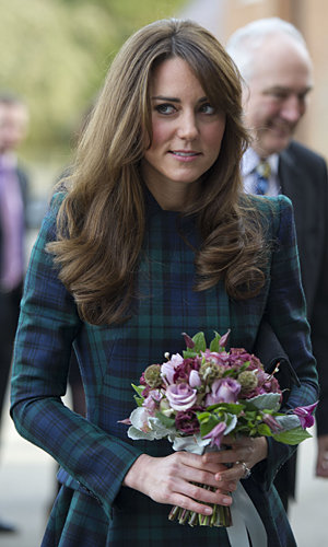 Kate Middleton wears plaid Alexander McQueen suit on a visit to St Andrew's
